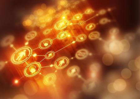 Foto de Connected Modern World -  illustration background. - Imagen libre de derechos