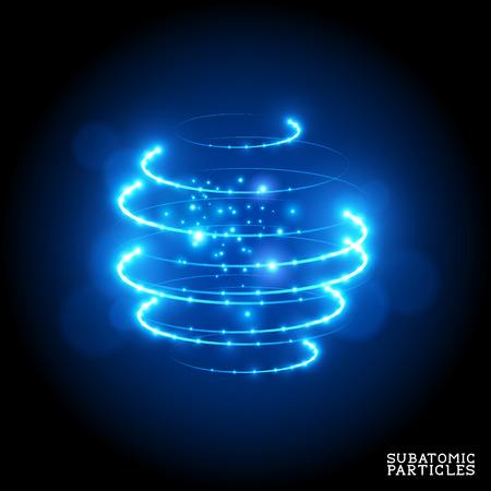 Subatomic Particles - vector illustration.
