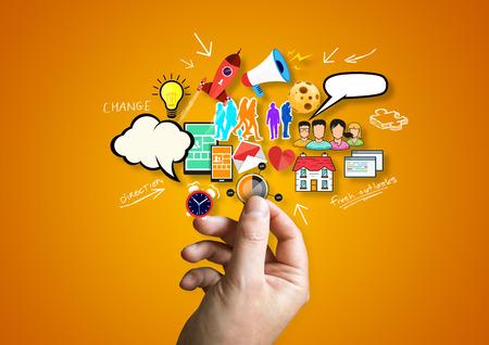 Photo pour Creative Business .A person creative design elements.. - image libre de droit