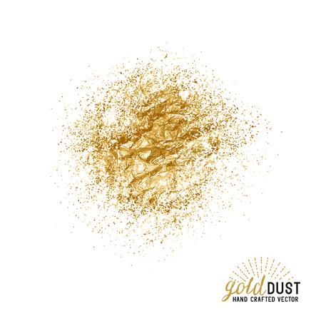 Illustration pour Vector Gold Dust. Foil gold dust particles. Vector illustration. - image libre de droit