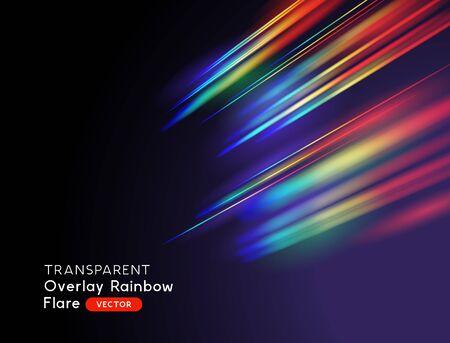 Illustration pour An optical lens rainbow flare effect. Vector illustration. - image libre de droit