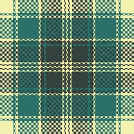 Illustration pour Tartan plaid pixel seamless pattern. Vector illustration. - image libre de droit