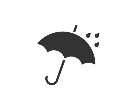 Illustration pour Umbrella icon vector. Rain protection. Concept for insurance company. Black and white silhouette flat design. - image libre de droit