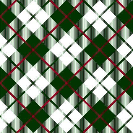 Illustration pour Green red check plaid texture seamless pattern - image libre de droit