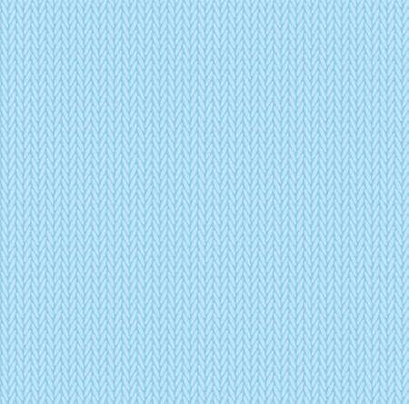 Illustration pour Knit texture sky blue color. Vector seamless pattern fabric. Knitting background flat design. - image libre de droit