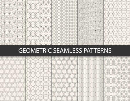 Illustration pour Abstract geometric pattern. Seamless vector background. - image libre de droit