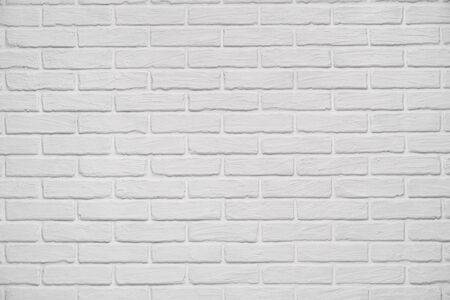 Photo for A white indoor brick wall abstract background or texture, new and clean, studio shoot - Royalty Free Image
