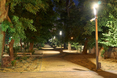 Photo for night view of Greek Park in Odessa city, Ukraine, near Potemkin stairs and Primorskiy boulevard - Royalty Free Image