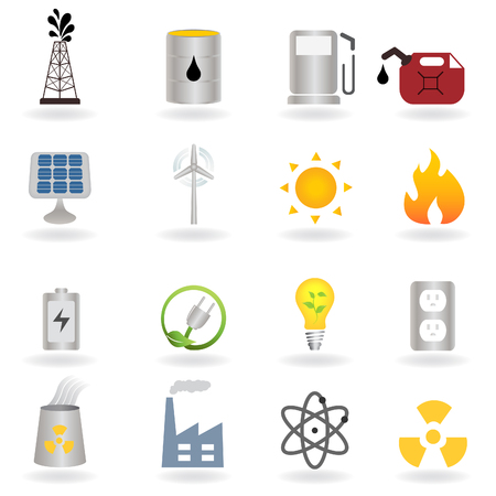 Ilustración de Clean alternative energy and environment symbols - Imagen libre de derechos