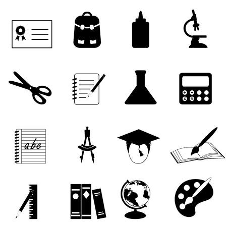 Illustration pour Education and school icon set - image libre de droit