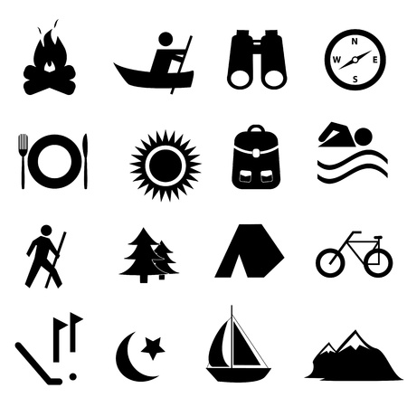 Leisure, sports and recreation icon set