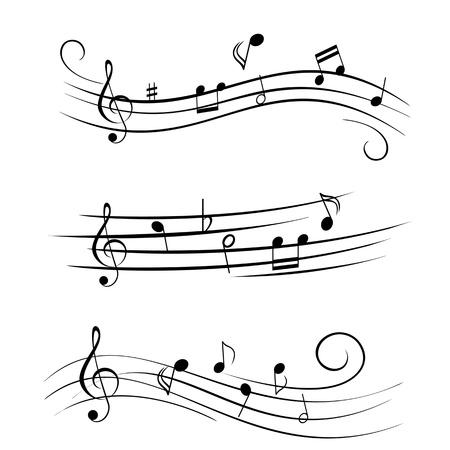 Various sheet music musical notes