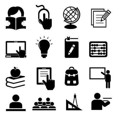 Illustration pour Back to school icon set - image libre de droit