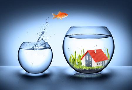 Photo pour fish find house - real estate concept  - image libre de droit