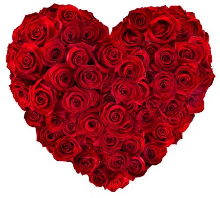 Foto de Heart of red roses  - Imagen libre de derechos