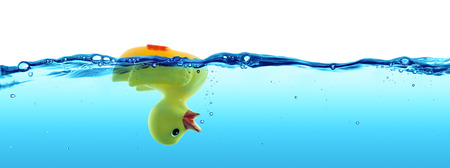 duck drowned  failure and SOS concept