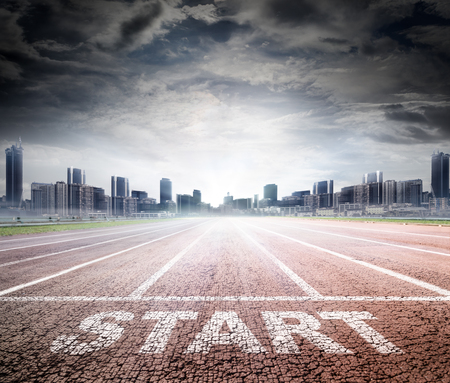 Photo for Business Start - Race Track To Success - Royalty Free Image