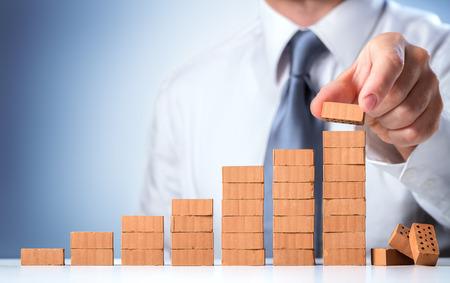 Businessman Building The Success