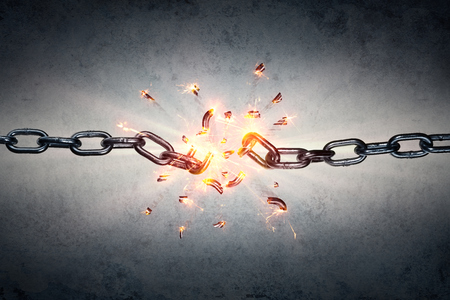 Broken Chain - Freedom And Separation Concept