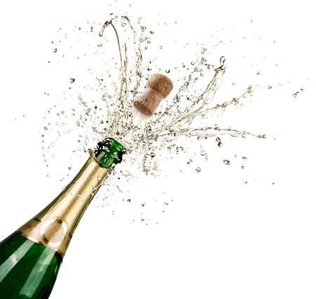 Photo pour Celebration With Splashes Of Champagne - image libre de droit