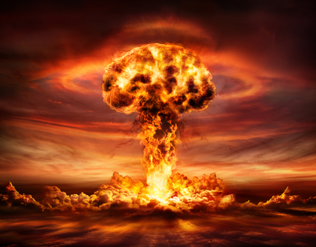 Photo for Nuclear Bomb Explosion - Mushroom Cloud - Royalty Free Image