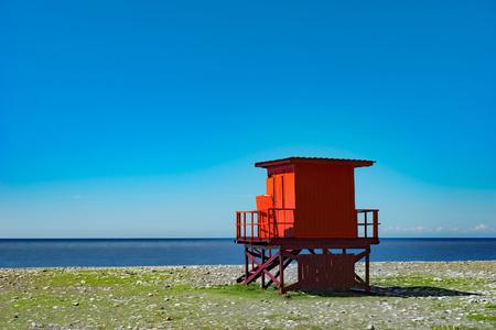 Red Lifeguard Kiosk, Georgia, Batumi