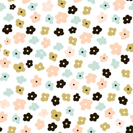 Photo pour Floral seamless pattern with cute flowers. Flowers surface design vector background - image libre de droit