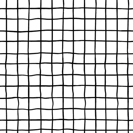 Illustration for Seamless pattern with hand drawn ink shapes. Trendy black and white background. Great for fabric, textile, wrapping. Vector Illustration - Royalty Free Image