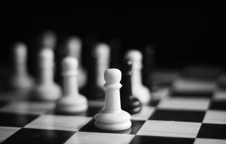 Black and white chess set