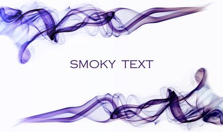 Purple smoky swirls on a white background