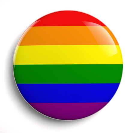 Gay pride design icon isolated