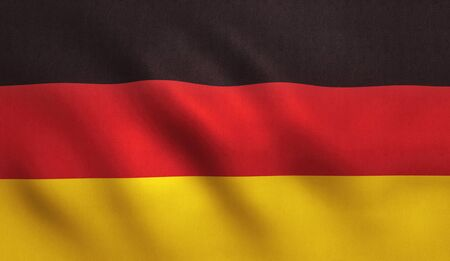 Germany flag background with fabric texture.