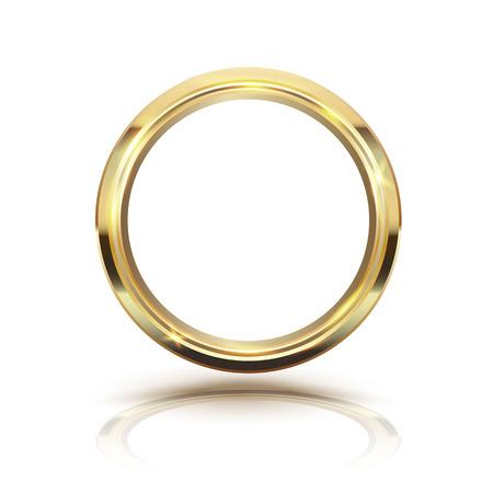 Gold circle isolate on white background. illustration.