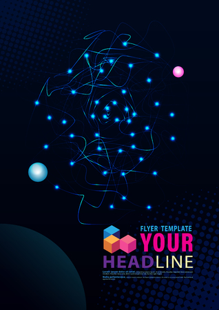 Foto per Cover template for network technology fiber optic Vector illustration. - Immagine Royalty Free