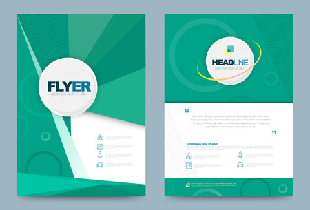 Illustration pour Annual report brochure flyer design template. vector illustration, Use for Leaflet cover presentation abstract flat background, layout in A4 size - image libre de droit