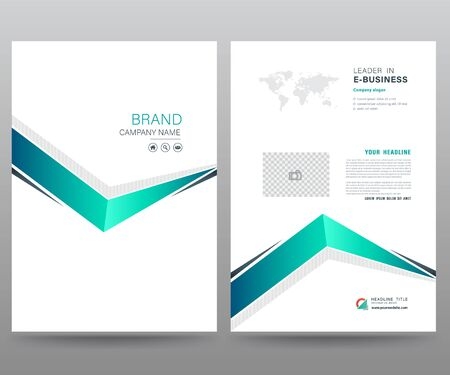 Foto für Template annual report brochure flyer design modern style. vector illustration, Use for Leaflet cover presentation abstract flat background, layout in A4 size - Lizenzfreies Bild
