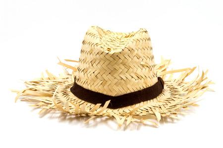 Foto de Straw hat isolated on a white background - Imagen libre de derechos