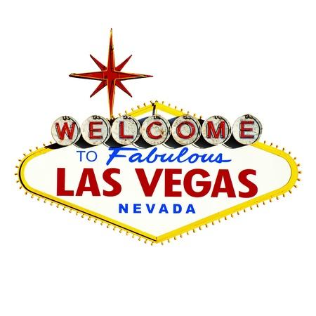 Las Vegas Sign on White