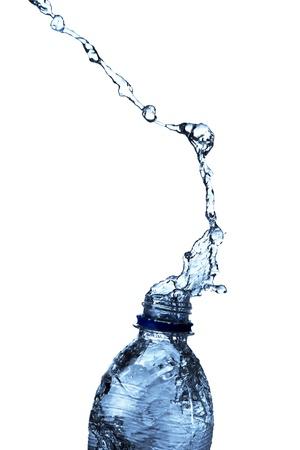Water splash from bottle