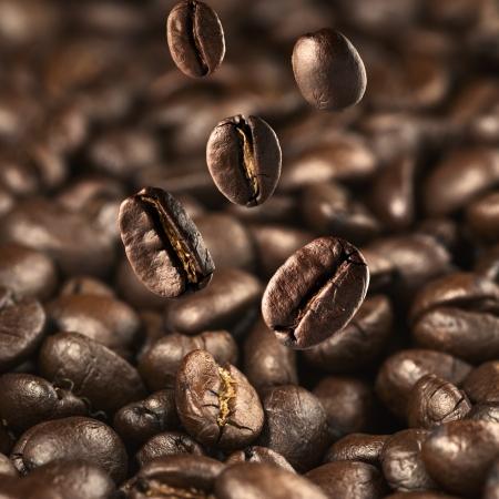 Coffee bean falling