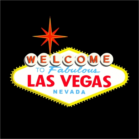 Welcome to Las Vegas Sign on Black background
