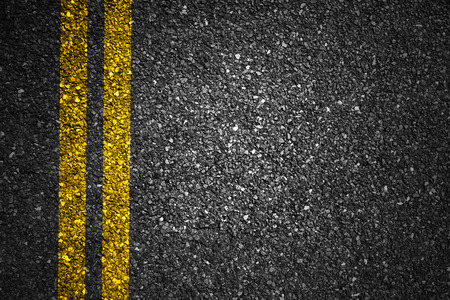 Photo for Asphalt Road Texture with Yellow Strips - Royalty Free Image