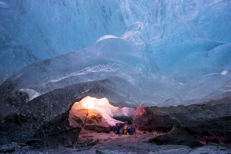 ice cave in a glacier in Iceland