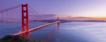 Golden Gate Bridge at night time, San Francisco, USA