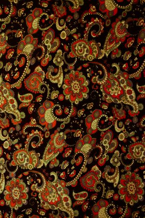 Texture fabric of Vintage paisley background