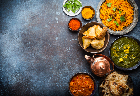 Photo for Authentic Indian dishes and snacks - Royalty Free Image