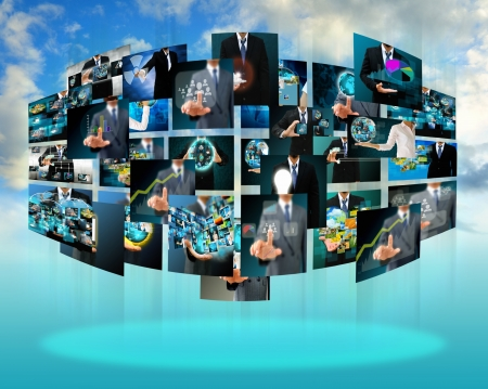 Photo for Television and internet production  technology and business concept - Royalty Free Image