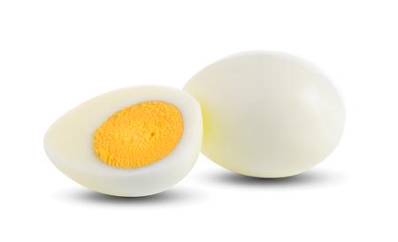 Photo pour boiled egg on white background - image libre de droit