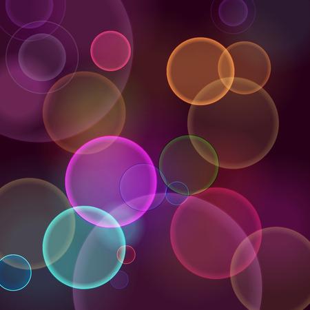 dark abstract blurred circular bokeh lights background