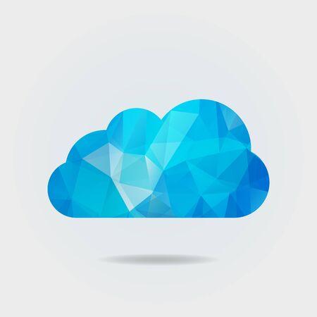 Illustration pour Vector illustration of triangle paper cloud on grey background - image libre de droit